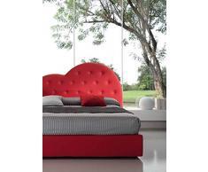 Letti Per Dormire.it - Letto Cuore Imbottito Matrimoniale King Size con Contenitore