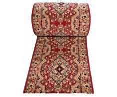 Tappeto Passatoia Per Corridoio Salotto Classical Tradizionale - Colore Rosso Motivo Orientale - Migliore Qualità - Diverse Misure S-XXXL 70 x 50 cm