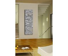 wandmotiv24 Guardaroba da parete G217 in arenaria naturale, 40 x 125 cm, colore grigio pietra