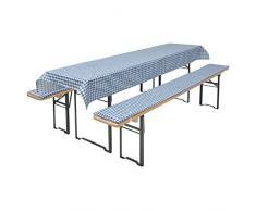 Brand sseller birra Bank Set di cuscini per sedie tavoli e panche 2 panche imbottite di circa 220 X 25 X 1,6 e 1 tovaglia 240 X 70 in diversi colori/Motivi