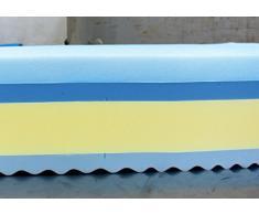 Baldiflex - Materasso Singolo Memory Plus Top 4 Strati 80 x 190 cm Alto 25 cm - Rivestimento Sfoderabile Silver Safe Cus. Saponetta Incl.