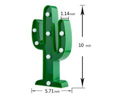 ZeWoo Cute Cactus Led Night Light, Lampade da parete per bambini, per bambini Regali, per Natale nozze camera Decorazione (Cactus Light)