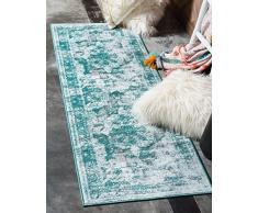 Unico Loom 3137825 Sofia Collection 2 7 Feet (2 'x 7') tappeto runner orientale classico vintage, effetto invecchiato, 2 x 6, turchese