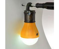 Set di 2 armadio lampada, Tenda, campeggio LED lampada con hakenhalterung per comodo fissaggio, colore nero/arancione; Marca: Ganzoo