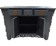 Guru-Shop Cassettiera, Armadietto Laterale, Comò Cinese H056 Stile Coloniale, 85x131x45 cm, Cassettiere e Credenze
