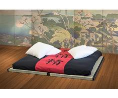 VivereZen - Divano Letto Futon - Kanto Double Lux 2 futon + 2 tatami + 2 copriletti singoli con kanji - Misure 2 futon 70x200 + 2 tatami 80x200
