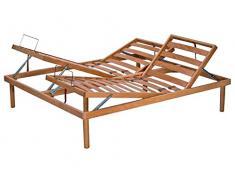 Vivere Zen - Letto reclinabile a doghe LF4 (faggio) Rete a doghe 120x200