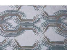 di lusso Runner trapuntato da letto con paillettes e finti diamanti bianco scintillante 50/cm x 220/cm