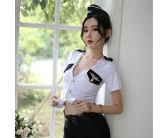 Lingerie & Intimo da donna Babydoll, Camicie da notte e Négligé Sexy lingerie corner Assistente di volo giapponese studentessa studentessa sexy letto uniforme tentazione tuta domestica può essere per