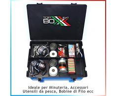 Fishing Evolution - Top BOXXX Evo (2.18). Supporto Superiore del cassettone/Seat Box Ideale per ordinare al Meglio la Nostra Attrezzatura da Pesca (Black)