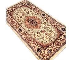 Heritage-Tappeto in stile persiano 2222, beige, 80 cm x 150 cm