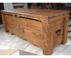 Decocraft cassapanca in legno tavolino baule vintage in legno cassapanca (BT1)