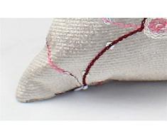 FR® Cuscino paillettes ricamati semplice e moderno cuscino del divano cuscini comodino ambiente vita pelle-amichevole ufficio , beige