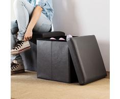 la panchina / scarpe multiuso sgabello / piedi del letto square feci cambiare scarpe / divano in pelle sgabello sgabello / piccolo sgabello / lo sgabello / ottomana (nero)