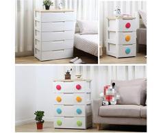 Armadio di stoccaggio for cassetti nel soggiorno, armadio di abbigliamento for bambini, cassettiera in plastica, cassettiere e scatole 32,5 * 41,5 * 61 cm (Size : B)