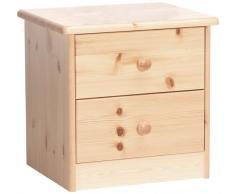 Steens 17800219 - Comodino Mario, 41 x 42 x 35 cm, legno di pino massiccio, verniciatura naturale