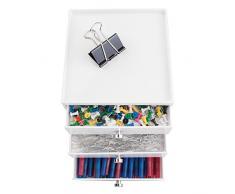 mDesign organizer scrivania – cassettiera ufficio – colore: bianco – 3 eleganti cassetti cancelleria – per una scrivania sempre in ordine