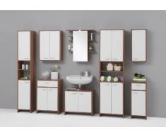 SB-Design Madrid 901-002 Comò ca. 32,5x79x33 cm, colore: Prugna/Bianco