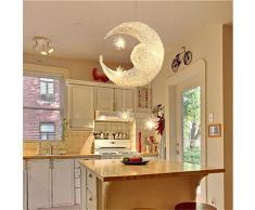 Egomall Figlio di alluminio creativo le stelle Luna Lampade Sospensione Camera da letto Balcone soffitto moderna della lampada della luce lampadario
