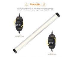 Albrillo N°3 Lampada LED Portatile per Armadio / Luce Notturna con Adattatore, LED Striscia luminosa Dimmerabile, 12W SMD2835 LED, 3000K 900lm