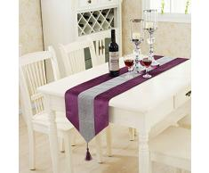 DegGod il nuovo diamante lusso moda tabella bandiera classico tavolino panno ristorante pasto bandiera piedi del letto panno tovaglia ( dimensioni : 32*185cm ) -- porpora