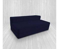IKB - Divano letto futon matrimoniale, pieghevole, di lusso, per ospiti, per adulti e bambini