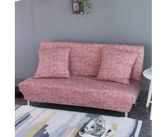 Monba Lino Modello Divano Letto futon Cover Pieghevole Senza braccioli Completo di Fodera per Living Room, Poliestere, Red Brown, L:160-190cm