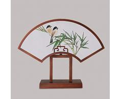Lampada da tavolo Lampada da tavolo Lampade da scrivania Lampada da tavolo moderna Lampada da tavolo in stile cinese, creativo dipinto a mano dipinto a forma di panno lampada da camera da letto lampad