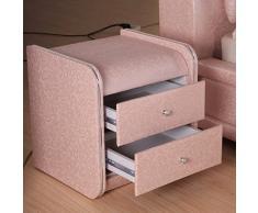 Comodino in pelle rosa Mobilia dell'hotel comodino Mobilia dell'hotel comodino Armadi-A 46x42x48cm(18x17x19)
