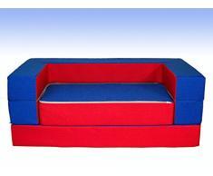 BAMBINI DIVANO LETTO FUTON BAMBINI PUZZLE (RED-BLUE)