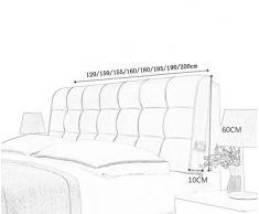 TKYZN Moda Lungo Cuscino/Schienale del Divano/Doppio Schienale in Pelle/Cuscino sul Comodino/Cuscino Morbido in Pelle (Colore : A, Dimensioni : 200 * 60 * 10cm)
