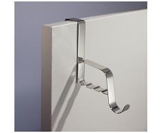 InterDesign 84020EU Valletto da Porta, Metallo, Argento, 6.25x15.75x6.25 cm