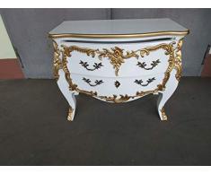 Dynamic24 - Comò in Stile Barocco Anticato Louises, Modello Roko, Dimensioni: 93 x 78 cm