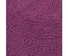 Just Contempo Tappetino da bagno rotondo in cotone, rotondo, colore: viola