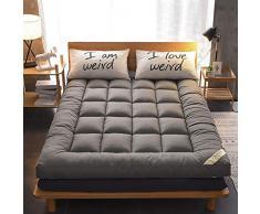 KE & LE Dormire Mat Tatami Bed Ground, Anallergico Trapuntato Confortevole Futon Materassino Giapponese Rotolo di Letto-a 100x200x10cm