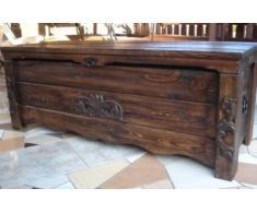 Massive handgemachte scatola in legno CASSAPANCA in legno conservazione anticato Decorazione BT2