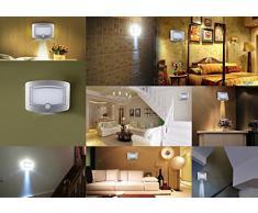 Xcellent Global Lampada LED con Sensore di Movimento a Batterie Montata a Parete per Uso Notturno, da Interni, Decorazioni M-LD030