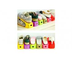 Organizzatore Salvaspazio Scarpe Multicolore Regolabile Salvaspazio Ideale per Scarpiera/Armadio/Mobili Set da 8 Pezzi