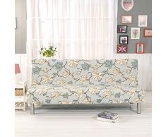 HM&DX Elastico Fodera per divano letto,Poliestere Con stampa floreale Resistente alle macchie Completa pieghevole Fodera per futon Mobili coperture-T 63-75in
