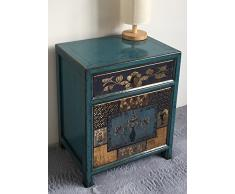 opium outlet box armadio cinese stile coloniale cassettiera comodino stile vintage shabby chic motivi colorati, Design 6