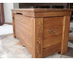 Cassapanca in legno tavolino baule vintage in legno ottomano (GO3)