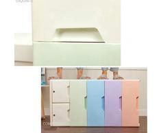 Armadietto di immagazzinaggio del cassetto di plastica, gabinetto di rifinitura dei bambini dell'armadio del bambino, cassettone, gabinetto ideale del cubo dell'organizzatore di stoccaggio 48 * 38 * 1