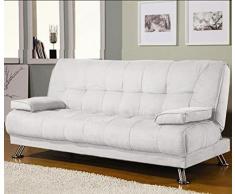Divano Letto Bianco Ecopelle : Divani letto in pelle color bianco da acquistare online su livingo