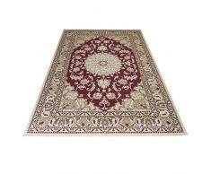 Tappeto classico persiano Nain motivo orientale SALON 2026-ROSSO Cm.160X230