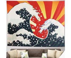 Arazzo Ocean Wave da appendere a parete Arazzo giapponese Kanagawa Arazzo da parete 3D Arazzo a grande onda con Art Nature Decorazioni per la casa per soggiorno Camera da letto Dormitorio Décor (L)