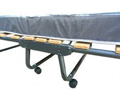 Baldiflex Brandina Pieghevole con Materasso in Waterfoam Ortopedico H 10 cm, Rete a Doghe, Modello Dali, 80 x 190 cm