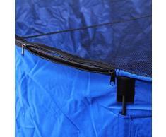 AquaForte – Vasca Flexi Bowl diametro 180 x H 60, Blu, pieghevole con rete di copertura e pratica tasca