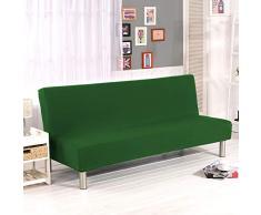 Monba Colore Solido Divano Letto Covers, Senza braccioli Divano Slipcover Protector Elastico Spandex Pieghevole Couch Sofa Shield futon Cover Dark Green