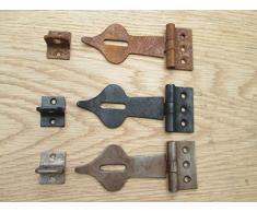 Ironmongery World® Old vintage Spear Head decorativo sicurezza catenaccio, cassapanca porta chiavistello per petto (nero finitura ruvida)