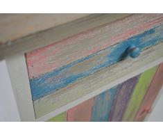 Vintage legno CHICCIE armadio con cassetto e porta - 71 cm - Multicolore - tavolino armadietto da corridoio armadio comodino notte armadio comò Cassettiera rubrica di notte